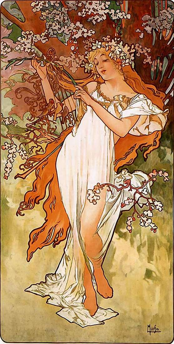 Весна   Альфонс Муха